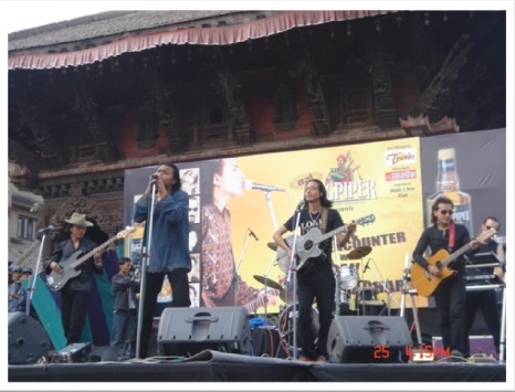 At Deepak's Live in Patan Durbar Square, Nepal 2007