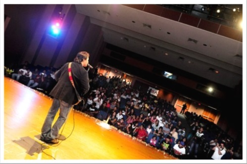 At Deepak in Concert in Dallas, USA